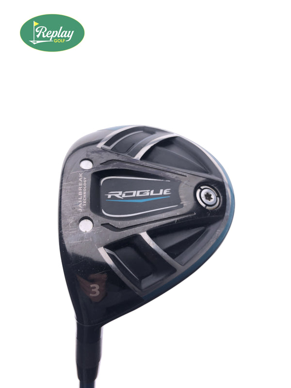 Callaway Rogue 3 Fairway Wood / 15 Degrees / Project X EvenFlow Stiff Flex / Left Hand - Replay Golf