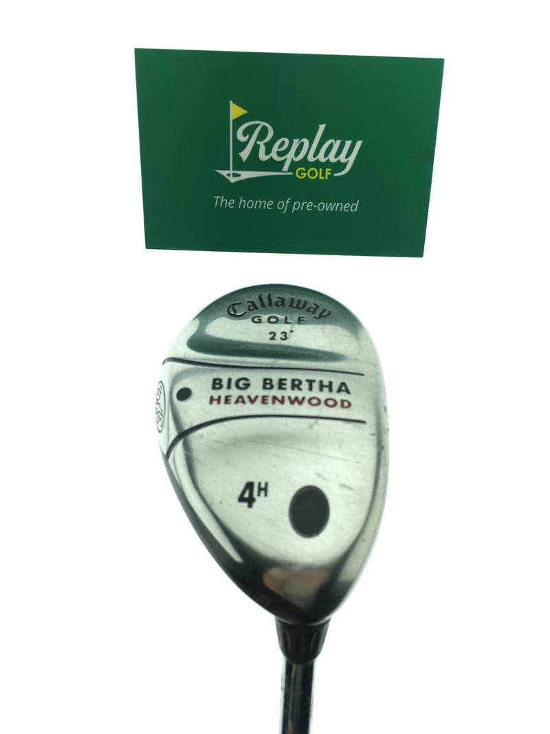 Callaway Big Bertha Heavenwood 4 Hybrid / 23 Degrees / Callaway Big Bertha Steel Uniflex - Replay Golf
