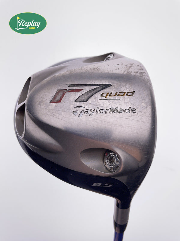 TaylorMade R7 Quad TP Driver / 9.5 Degrees / Grafalloy Blue Stiff Flex - Replay Golf