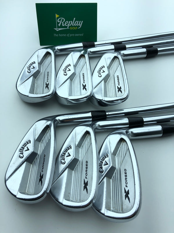 Callaway 2018 X Forged Iron Set / 5-PW / KBS Tour V Regular Flex - Replay Golf