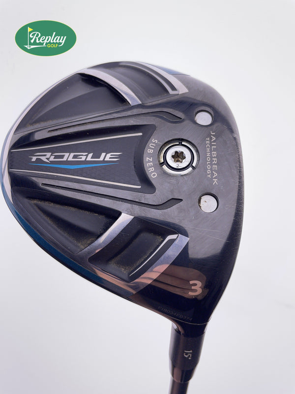 Callaway Rogue Sub Zero 3 Wood / 15 Degree / Project X HZRDUS Yellow X-Stiff