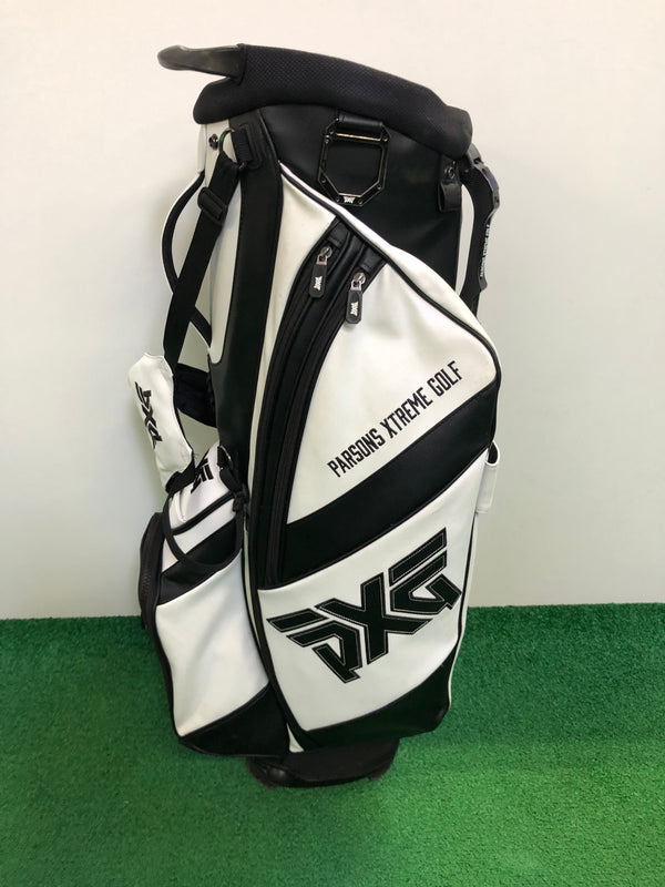 PXG White Leather Stand Bag / 4 Way Divider - Replay Golf