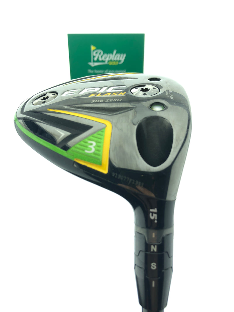Callaway EPIC Flash Sub Zero 3 Wood / 15 Degrees / Tensei AV Series 75 Regular - Replay Golf
