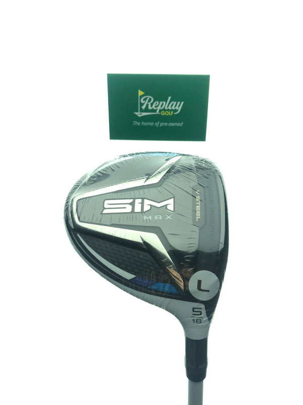 NEW TaylorMade SIM Max Women's 5 Wood / 18 Degree / Aldila NV 45 Ladies Flex - Replay Golf