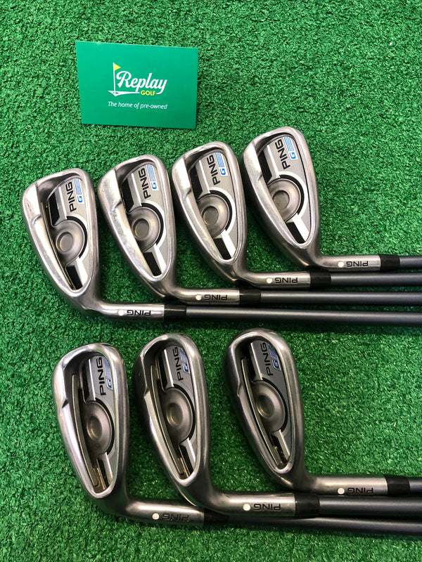 Ping G Series Iron Set / 6-SW+LW / Ping CFS 65 Soft Regular Flex / LEFT Hand