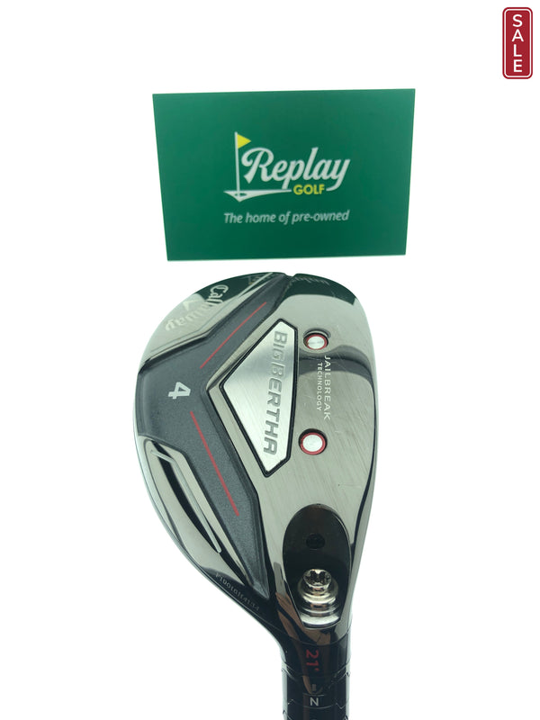 Callaway 2019 Big Bertha 4 Hybrid / 21 Degrees / UST Recoil ESX Regular Flex - Replay Golf