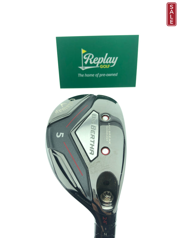 Callaway 2019 Big Bertha 5 Hybrid / 24 Degrees / UST Recoil ESX Regular Flex - Replay Golf