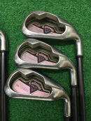 Callaway Big Bertha Ladies Iron Set / 5 - PW / Callaway 45 Ladies Flex - Replay Golf
