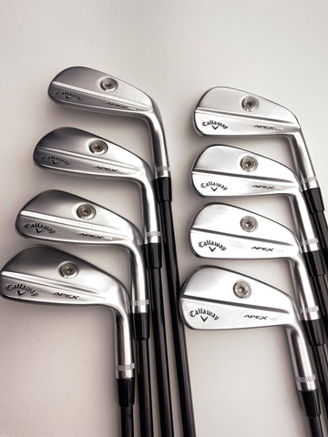 Callaway Apex MB 2021 Iron Set / 4-AW / True Temper Elevate Tour Black VSS Stiff - Replay Golf