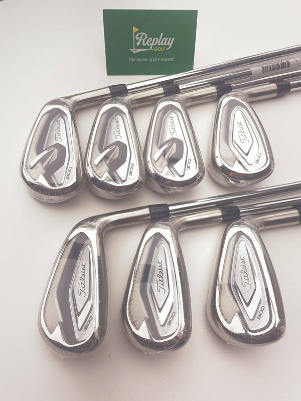 NEW Titleist T300 Iron Set / 5-PW+48° / True Temper AMT RED R300 Regular Flex - Replay Golf