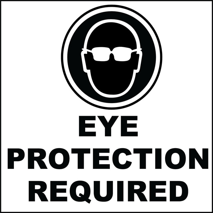 Eye Protection required decals
