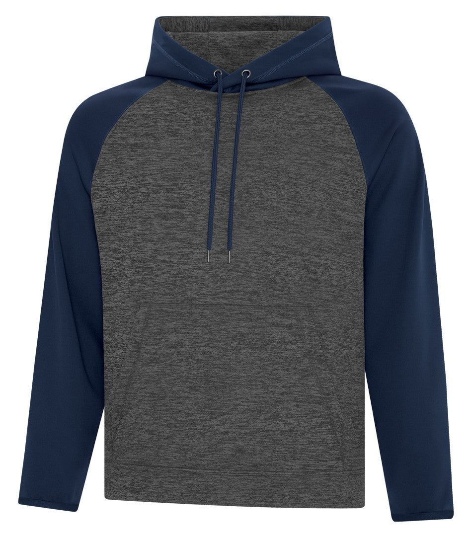 ATC™ DYNAMIC HEATHER FLEECE TWO TONE HOODED SWEATSHIRT. F2047