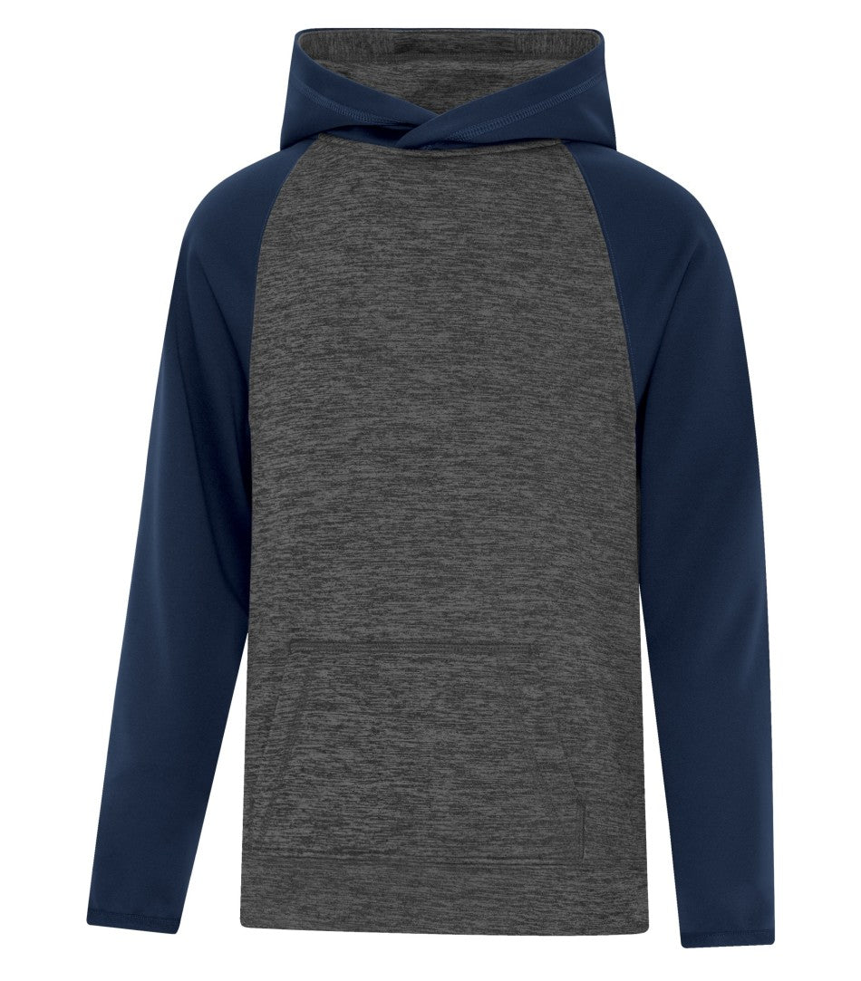 ATC™ DYNAMIC HEATHER FLEECE TWO TONE HOODED YOUTH SWEATSHIRT. Y2047