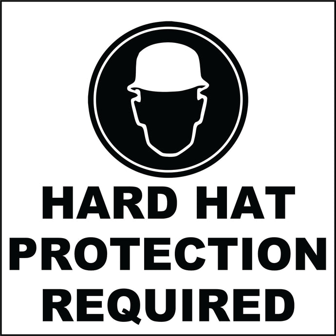 Hard hat Required decals