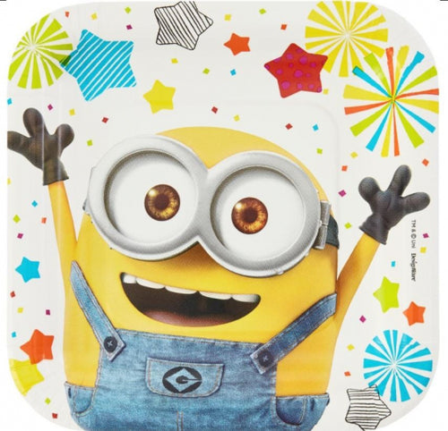 Despicable Me Square Paper Plates