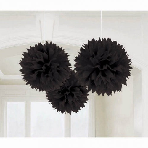 Fluffy Tissue Decorations (Black)