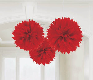 Fluffy Tissue Decorations (Red)