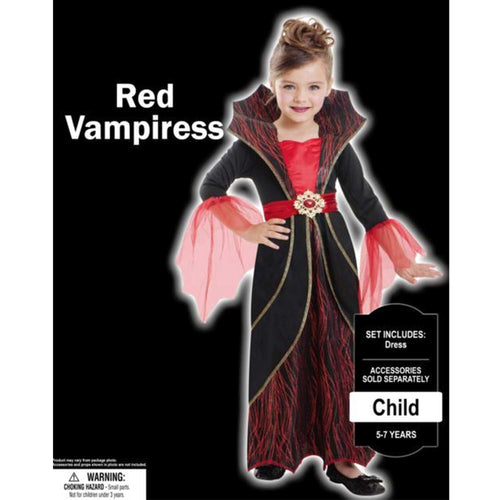 Costume Red Vampires Girls 8-10