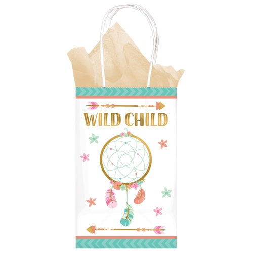 *Boho Birthday Girl Printed Paper Kraft Bag