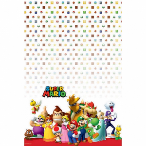 Super Mario Bros Plastic Tablecover