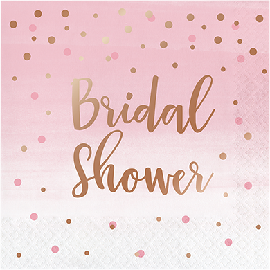 *Rose All Day Bridal Shower Lunch Napkins