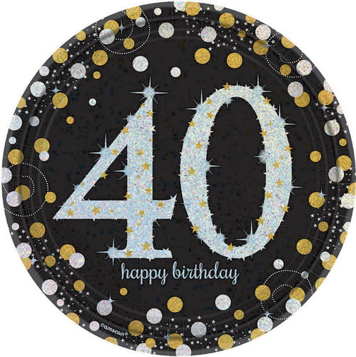 Sparkling Celebration 40th Prismatic Plates
