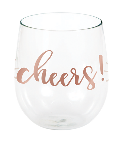 *Rose All Day Cheers Stemless Wine Glass