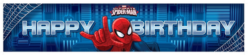 Spiderman Plastic Banner