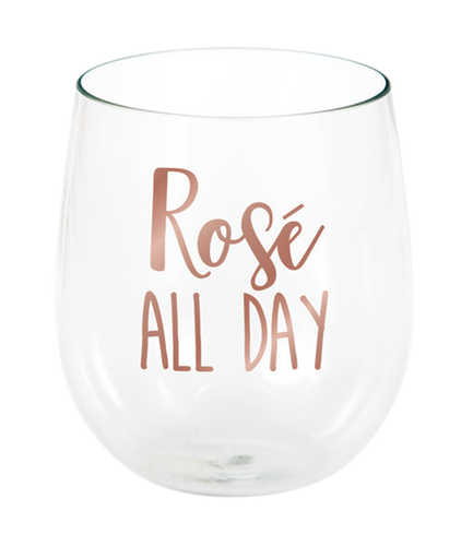 *Rose All Day Stemless Wine Glass