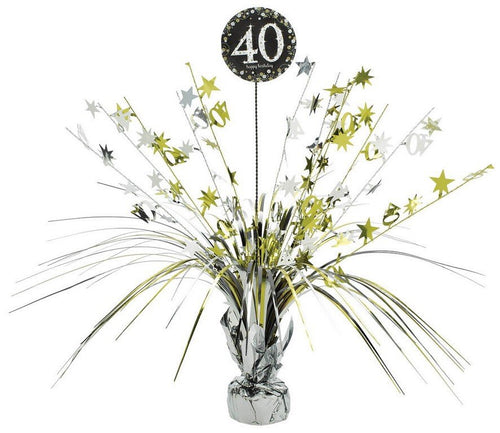 Sparkling Celebration 40th Centrepiece Spray