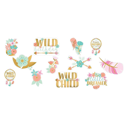*Boho Birthday Girl Cutouts Value Pack