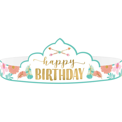 *Boho Birthday Girl Tiara- Paper