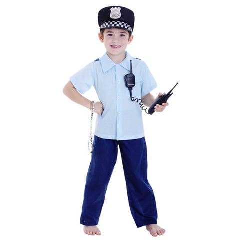 Deluxe Policeman Boy Large 6-8 Yrs