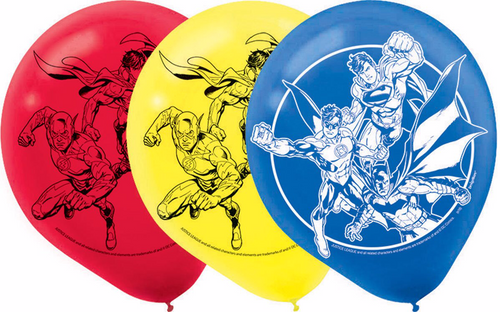 Justice League Latex Balloons
