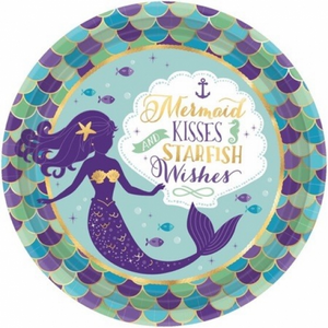 Mermaid Wishes Dinner Plate