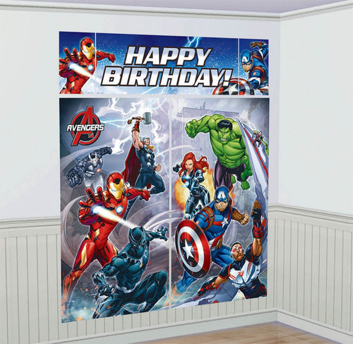 *Avengers Epic Scene Settler Wall Decorations Kit Plastic
