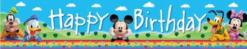Mickey Mouse Plastic Banner