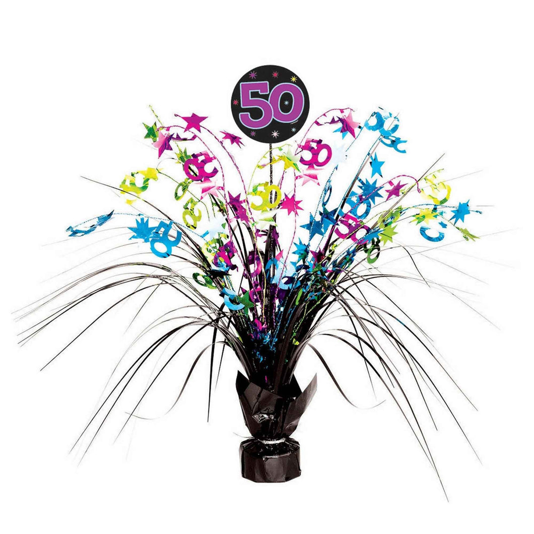 50th Birthday Celebration Centrepiece Spray