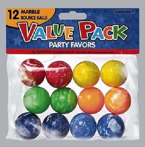 Value Pack Favor Marble Bounce Balls