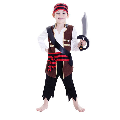 Deluxe Pirate Boy Large 6-8 Yrs