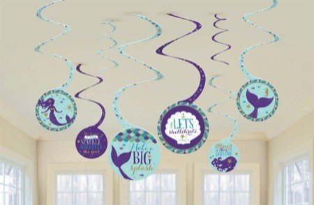 Mermaid Wishes Spiral Decorations