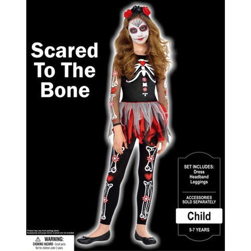 Costume Scared To The Bone Girls 8-10yrs