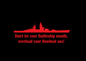 Battleship Mouth Plaque
