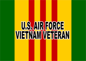 Air Force Vietnam Service Plaque