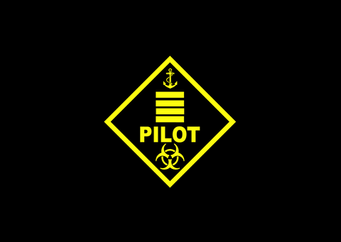 Pilot Warning Plaque