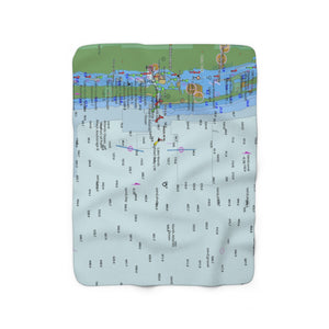 Palm Beach Lake Worth Sherpa Fleece Blanket