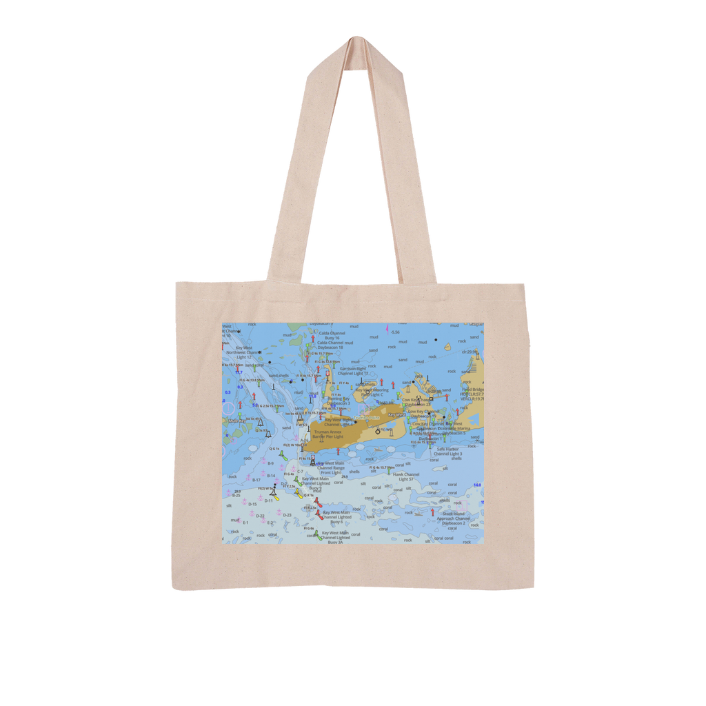 Key West Large Organic Tote Bag