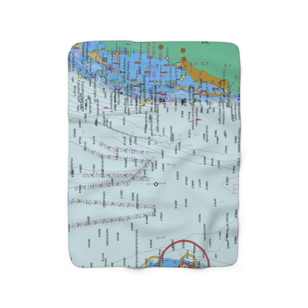 Miami Key Biscayne Sherpa Fleece Blanket