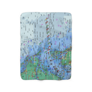 Tampa Bay Sherpa Fleece Blanket