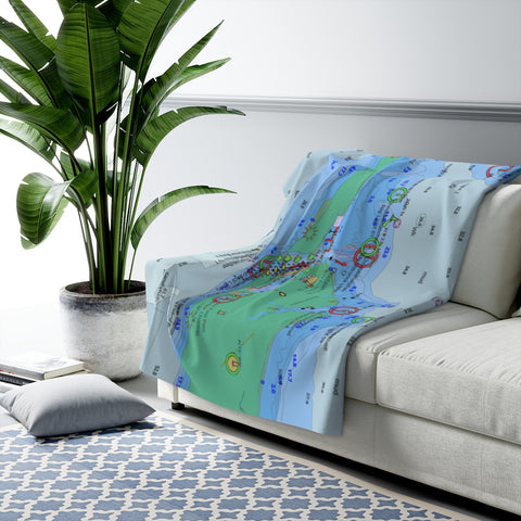 Destin Sherpa Fleece Blanket